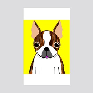 Boston Terrier (Brindle) Rectangle Sticker