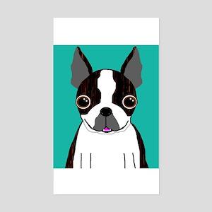 Boston Terrier (Dark Brindle) Rectangle Sticker