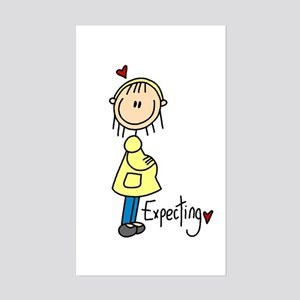 Expecting Baby Rectangle Sticker
