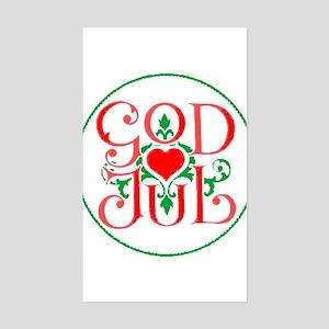 God Jul Rectangle Sticker