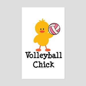 Volleyball Chick Rectangle Sticker