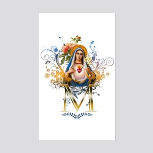 Immaculate Heart of Mary Sticker (Rectangle)
