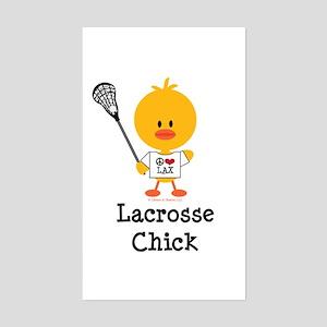 Lacrosse Chick Sticker (Rectangle)