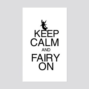 Keep Calm and Fairy On Sticker (Rectangle)