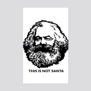 Marx Not Santa Sticker (Rectangle)