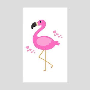 Pink Flamingo Hearts Sticker