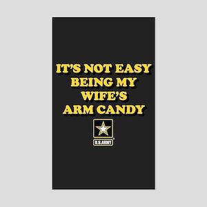 U.S. Army Being My Wife's Arm Sticker (Rectangle)