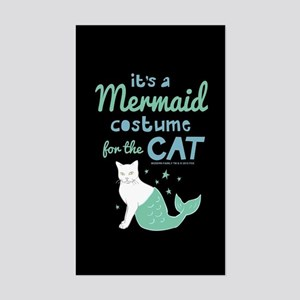 Modern Family Mermaid Cat Sticker (Rectangle)