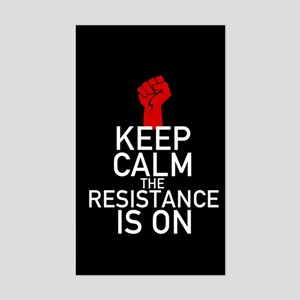 Resistance Keep Calm Sticker (Rectangle)