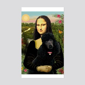 Mona / Std Poodle (bl) Sticker (Rectangle)
