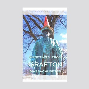 Green Guy Greetings from Grafton - Sticker (Rectan