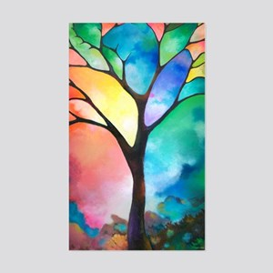 Tree of Light by Sally Trace Sticker (Rectangle)