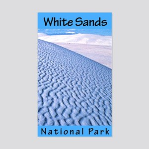 White Sands NP (Vertical) Rectangle Sticker