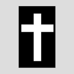 White Cross Sticker (Rectangle)