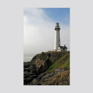 Lighthouse on Cliff Sticker (Rectangle)