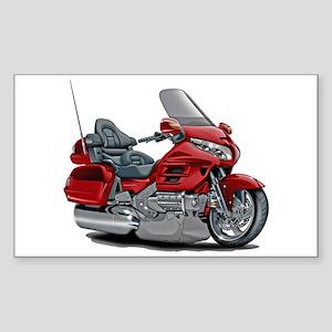 Goldwing Red Bike Sticker (Rectangle)