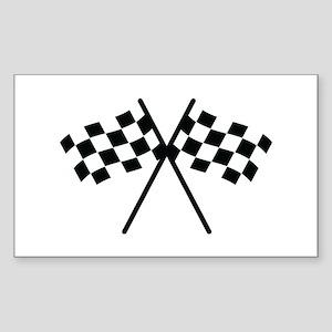 checker flag autorace Rectangle Sticker