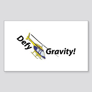 Defy Gravity B/Y Rectangle Sticker