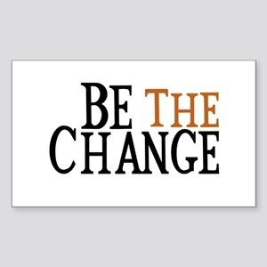 Be The Change Sticker (Rectangle)