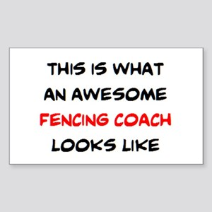 awesome fencing coach Sticker (Rectangle)