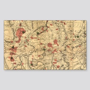 Vintage Map of Yellowstone National Park ( Sticker