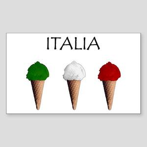 Gelati Italiani Rectangle Sticker