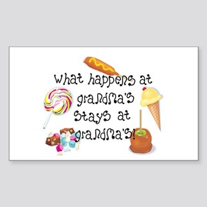 What Happens at Grandma's... Rectangle Sticker