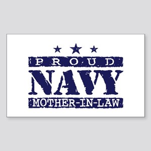 Proud Navy Mother In Law Sticker (Rectangle)