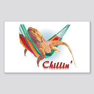 Bearded Dragon Chillin Rectangle Sticker