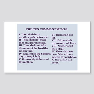 Ten Commandments Rectangle Sticker