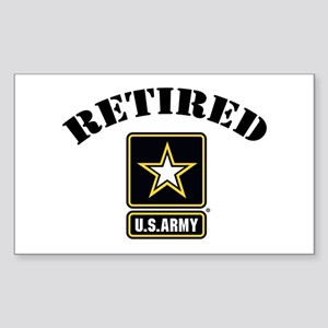 Retired U.S. Army Soldier Sticker (Rectangle)