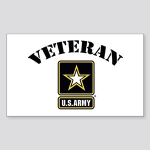 Veteran U.S. Army Sticker (Rectangle)
