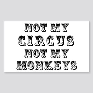 Not Circus Sticker (Rectangle)