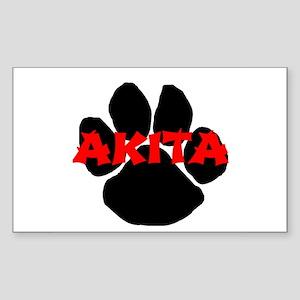 akita name paw Sticker