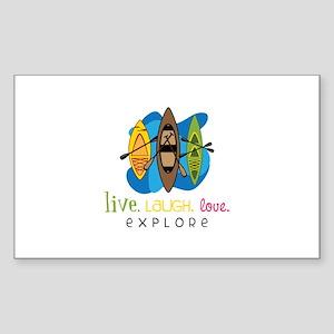 Live Laugh Love Explore Sticker