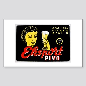 Serbia Beer Label 1 Sticker (Rectangle)