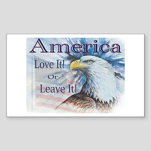 America Love It or Leave It Rectangle Sticker