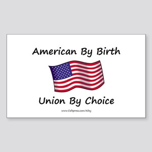 Union By Choice Rectangle Sticker