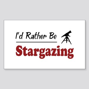 Rather Be Stargazing Rectangle Sticker