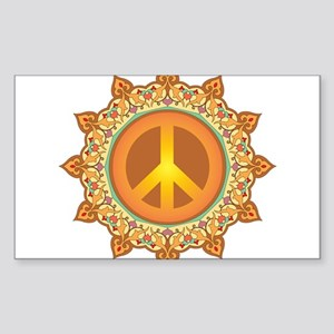 Peace Sign Sticker (Rectangle)