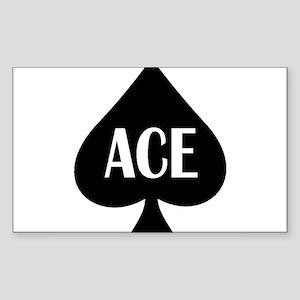 Ace Kicker Sticker (Rectangle)