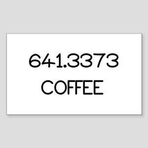 641.3373 Sticker (Rectangle)