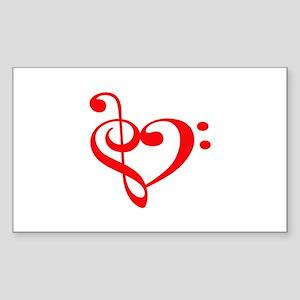 TREBLE MUSIC HEART Sticker