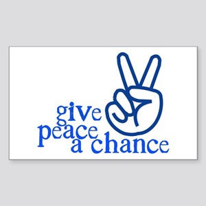 Give Peace a Chance - Hand Sign - Blue Sticker (Re