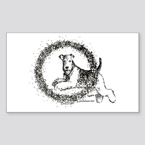 Airedale Rectangle Sticker