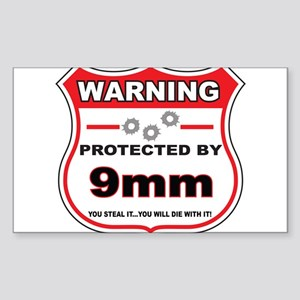 protected by 9mm shield Sticker
