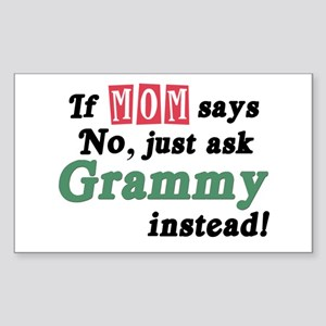 Just Ask Grammy! Rectangle Sticker