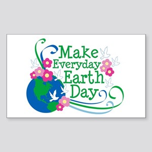 Make Everyday Earth Day Rectangle Sticker