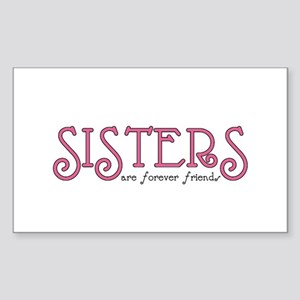 Forever Sisters Rectangle Sticker