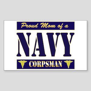 Corpsman Mom Rectangle Sticker